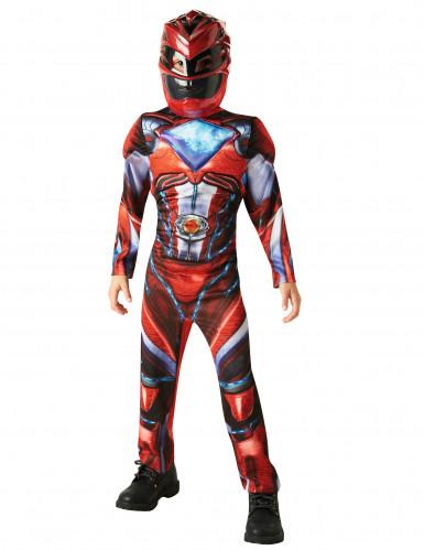 Kostume luksus Power Rangers™ rød til børn - Filmen-1