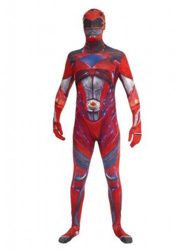Kostume heldragt rød Power Rangers deluxe til voksne Morphsuits™