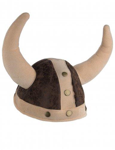 Viking hjelm brun til voksne