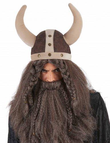 Viking hjelm brun til voksne-1