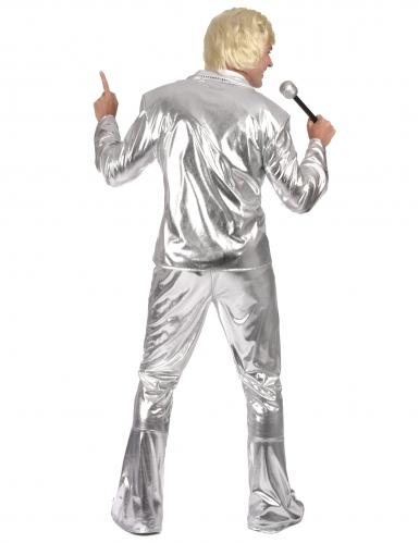 Sølv diskokostume til mænd -2