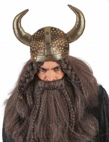 Vikinghjelm metallisk blød voksen-1