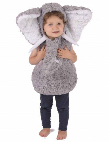 Elefant plyskostume til børn