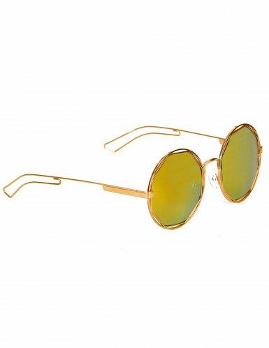 Solbriller retro metallisk guld til voksne