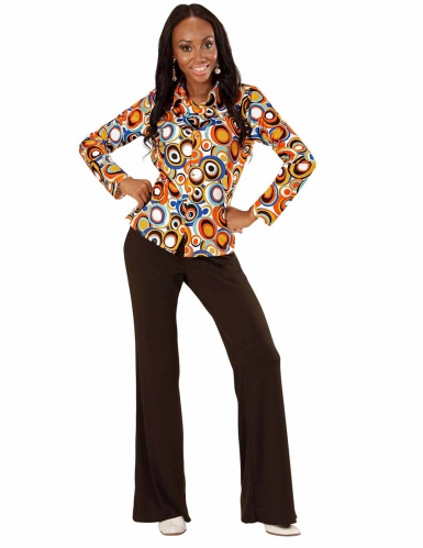 Skjorte groovy bobler 70'er til kvinder