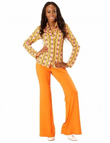 Skjorte groovy disco 70'er skjorte
