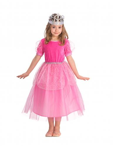 Kostume lyserød prinsesse til piger