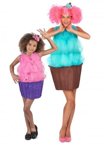 Cupcake parkostume til mor og datter