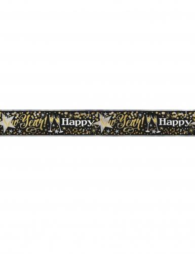 Banner glitrende Happy New Year 3.65 m