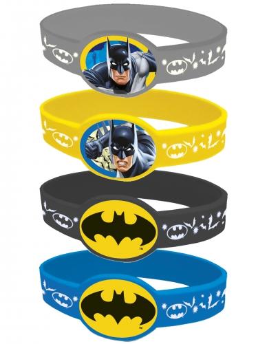 4 Elastiske armbånd Batman™