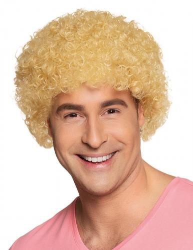 Paryk krøllet blond standard til voksne