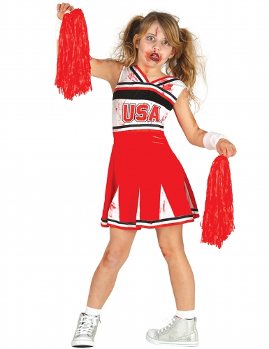 Kostume zombie cheerleader til piger til Halloween