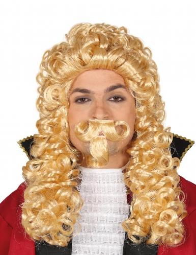 Lang blond marquis paryk med skæg til voksne