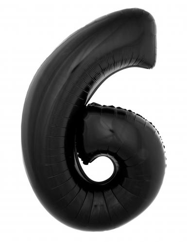 Tal ballon nr 6 i sort