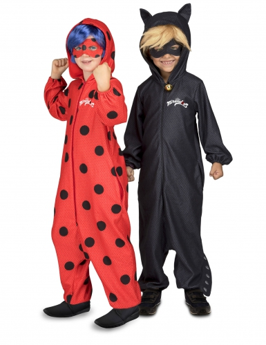 Kostume heldragt Cat Noir fra Miraculous™ til børn-1