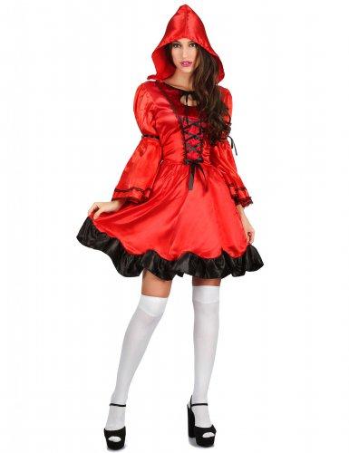 Skovens lille røde pige kostume til kvinder