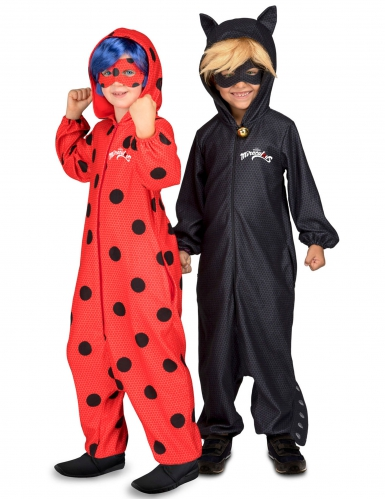 Par kostume Ladybug og Cat Noir fra Miraculous™ til børn