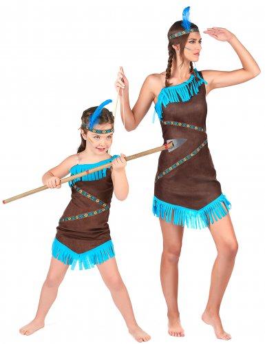 Parkostume indianere mor og datter til piger
