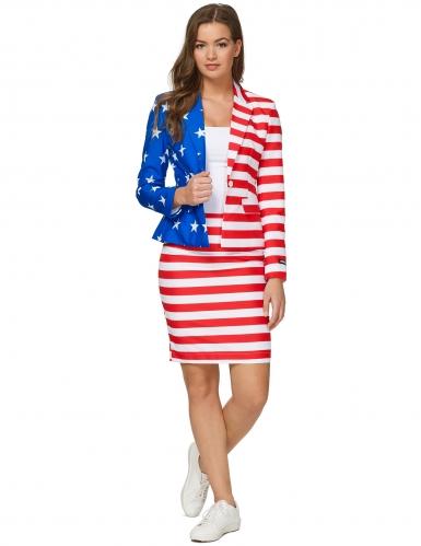 Kostume Mrs. USA Flag kvinde Suitmeister™