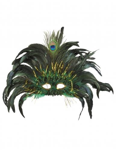 Venetisk maske med påfuglefjer - voksen-1