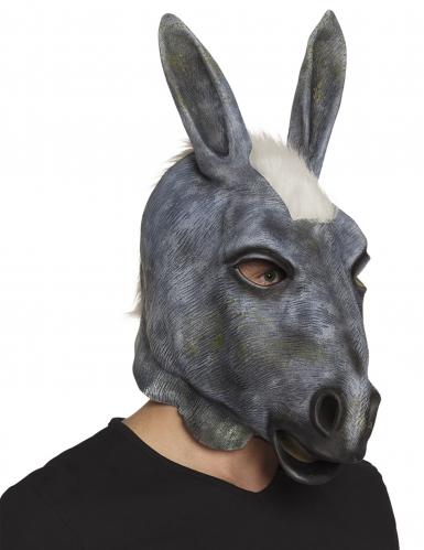 Latex maske æsel voksen