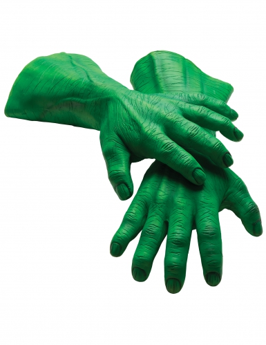 Grønne latex handsker til voksne - Hulk™