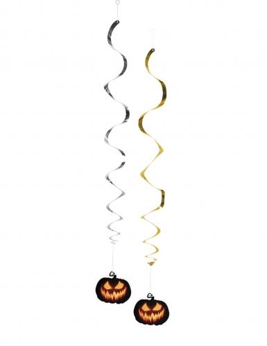 Halloween dekoration med skræmmende græskar