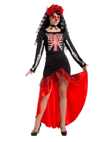 Flamenco danserinde - Dia de los muertos kostume til kvinder