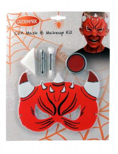 Djævle maske med sminke til Halloween