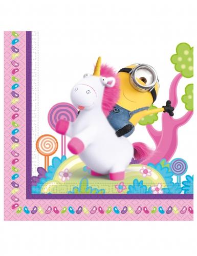Minions™ med unicorn servietter 20 stk