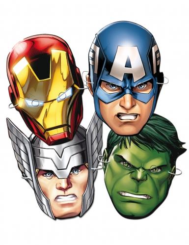 Avengers™ papmasker 6 stk.