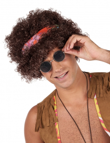Brun hippie paryk til voksne - 130 gr