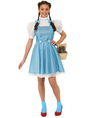 Dorothy kostume med blå tern til kvinder - Troldmanden fra Oz™