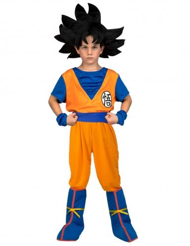 Goku kostume med paryk til børn - Dragon Ball™