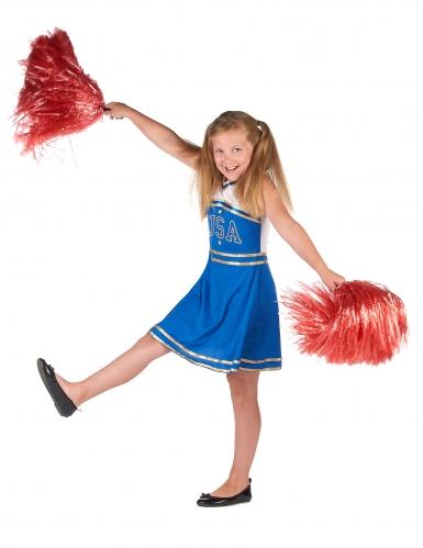 Pompom blåt cheerleader kostume til piger-1