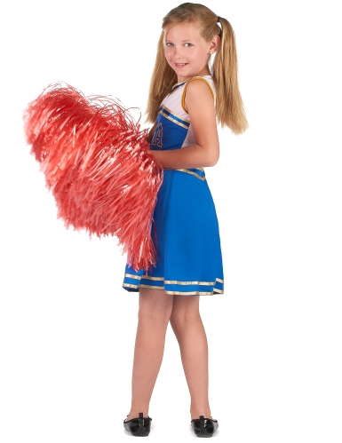 Pompom blåt cheerleader kostume til piger-2