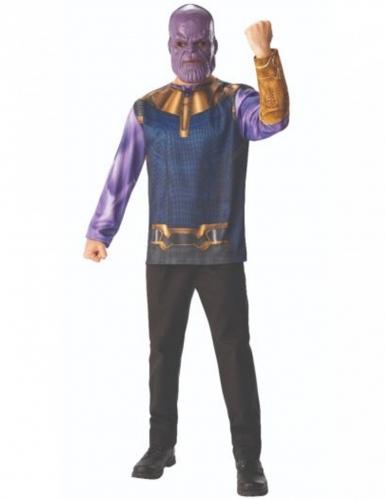 T-shirt og maske Thanos Infinity War™ voksen