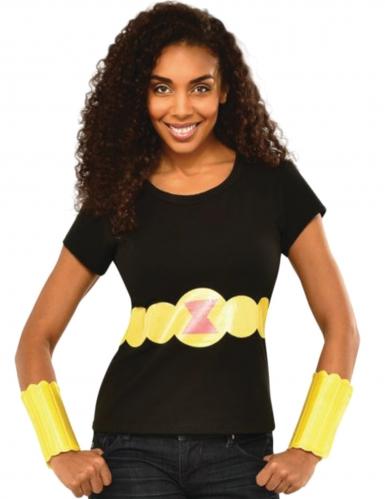 Black Widow™ Tshirt og jernhandske kvinde