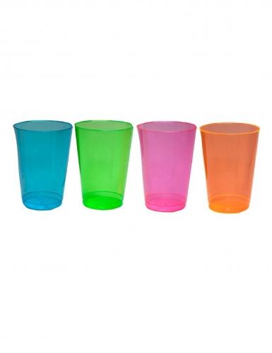 50 stk multifarvet plastikglas 296 ml