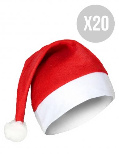 Pakke med 20 stk standard nissehuer til voksne