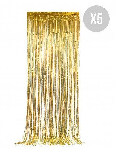 Pakke med 5 stk guldgardiner