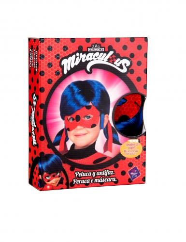 Boks med paryk og maske til børn - Ladybug™-1