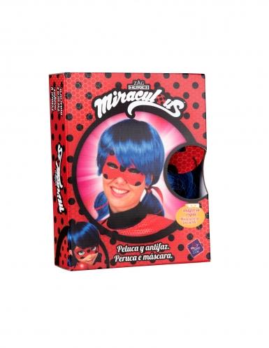 Boks med paryk og maske til voksne - Ladybug™-1