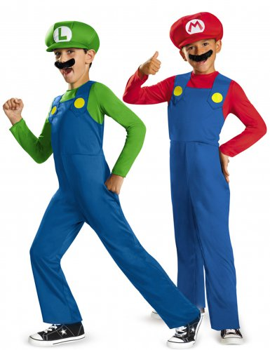Parkostume Mario™ og Luigi™ barn