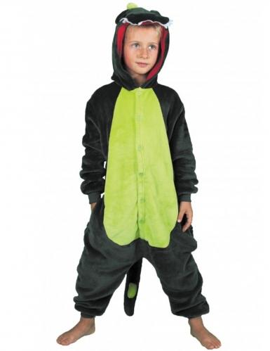 Kostume heldragt dinosaur grøn barn