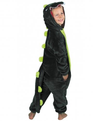 Kostume heldragt dinosaur grøn barn-1