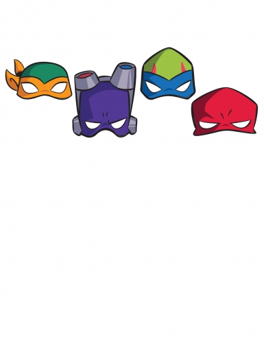 8 Papmasker Teenage Mutant Ninja Turtles™