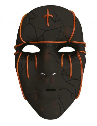 LED Maske sort til voksne-1