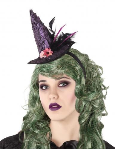 Hekse Hat på Hårbøjle lilla til voksne