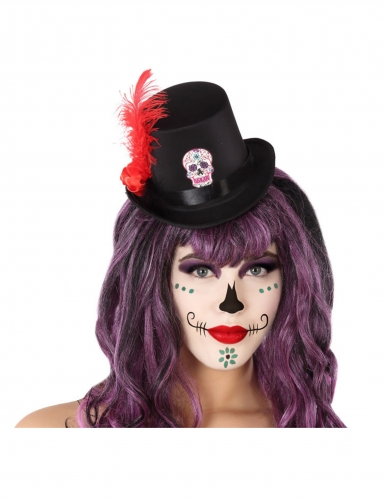 Dia de los Muertos mini hat til voksne